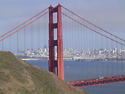 Die Golden-Gate-Brücke in San Francisco